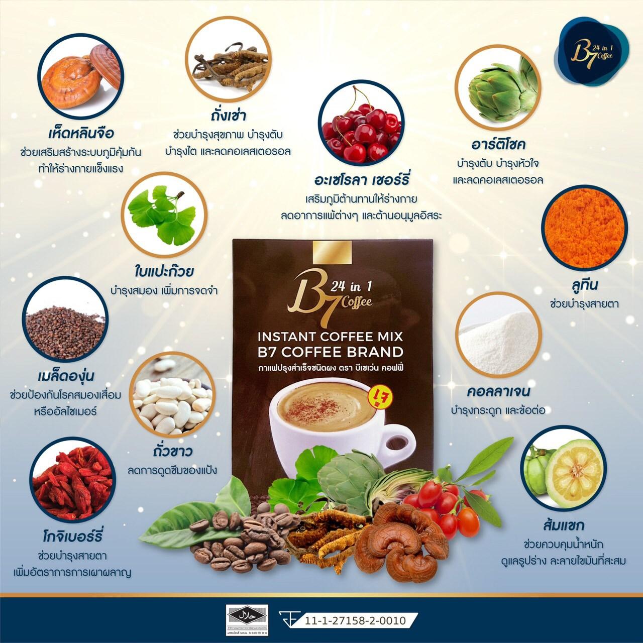 ส่วนผสม กาแฟเพื่อสุขภาพ B7 Coffee